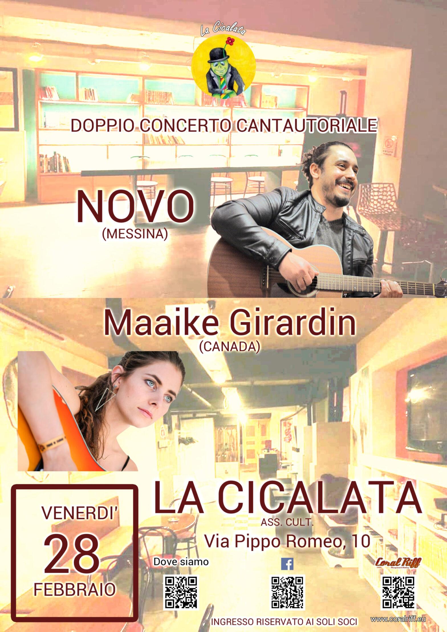 Novo + Maaike Girardin a La Cicalata, Messina
