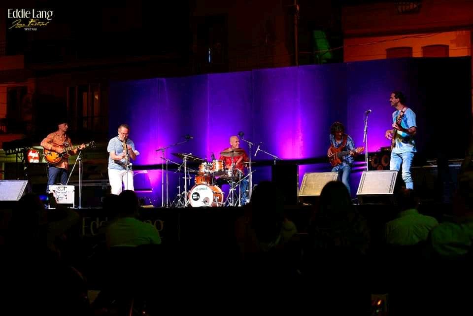 TJLT jamming with Trio Bobo @ Eddie Lang Jazz Festival